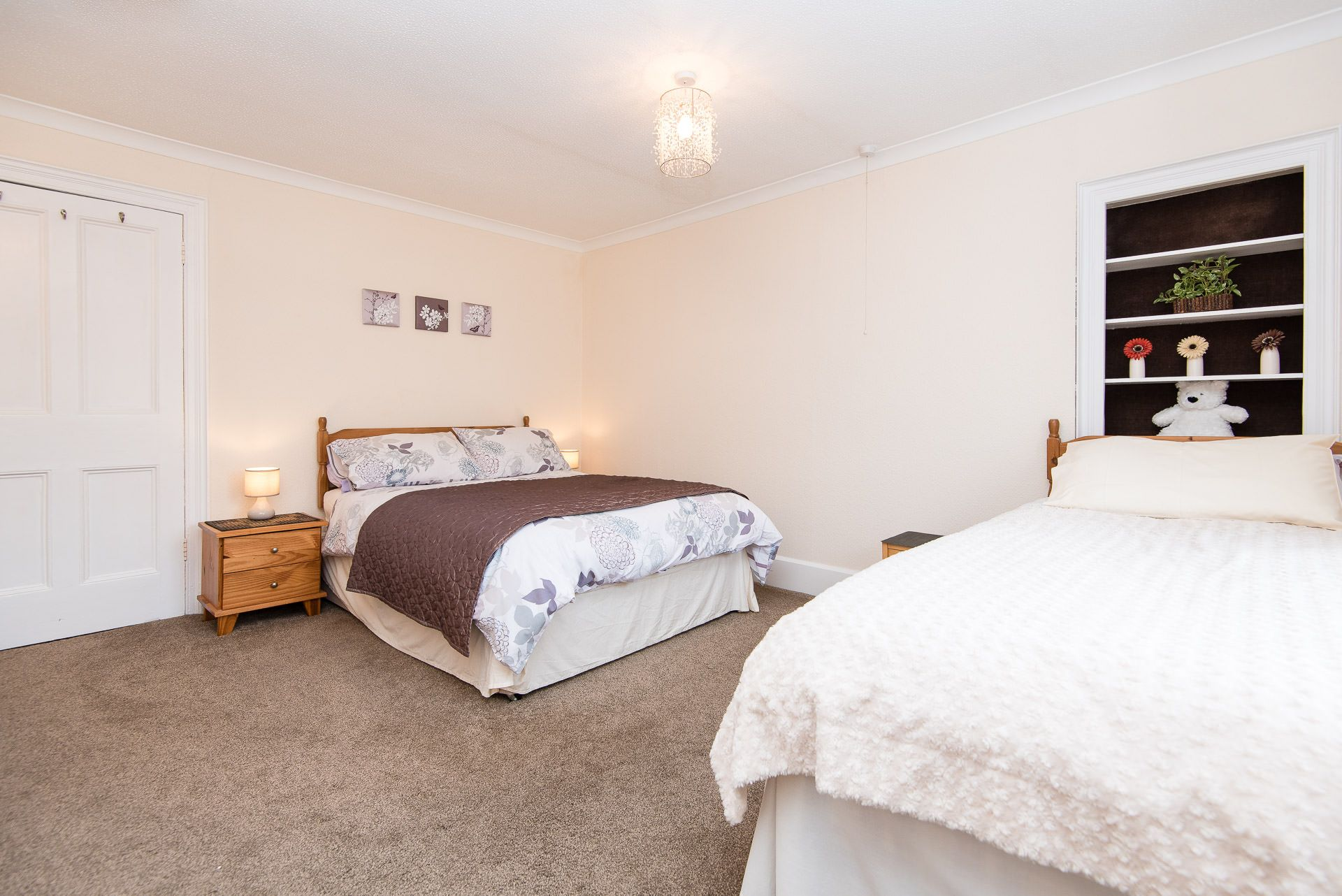 Quayview Apartment in Looe master bedroom with double bed
