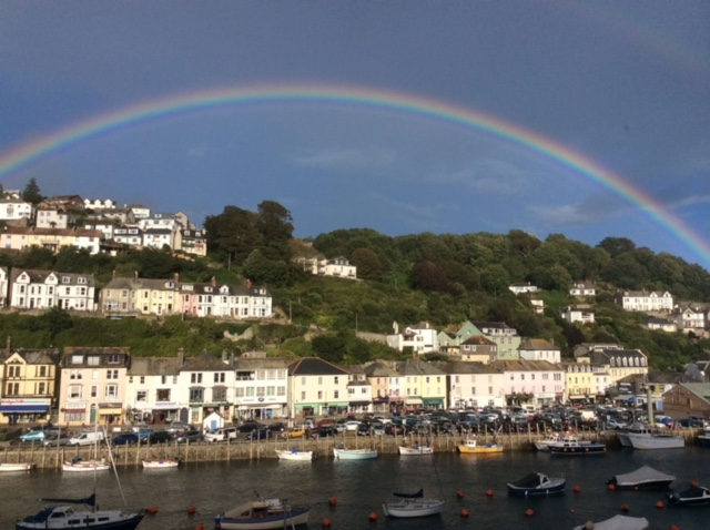 Quayview Apartment Looe rainbow view